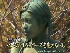 japanese perverted bitch becomes statue