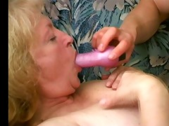 obese granny can cum trickling from her chin