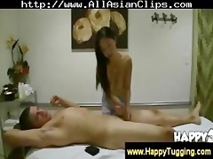 oriental masseuse gives handjob and oral-job