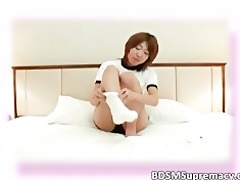 avid oriental hottie got punished and fastened