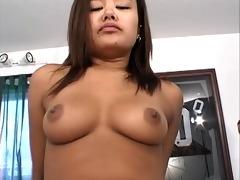little oriental slut butt-fucked by white stud