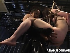japanese goddess copulates her slavegirl with dong