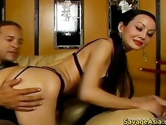 busty oriental bimbo receives bawdy cleft licked