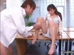 sexy and hawt oriental secretary blows stiff part4