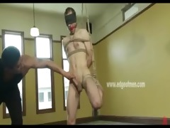 gagged female bondman acquires flogged