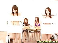 classroom schoolgirl disrobe quiz