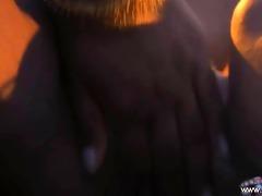 dark brown indian female-dominator undresses