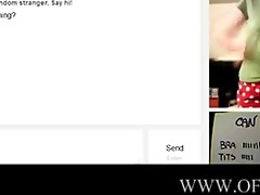young pair have pleasure on omegle with blo
