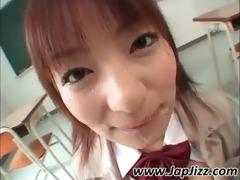 asian hottie receives facialized in class