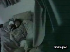 oriental hotty masturbates in couch