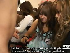 subtitled cfnm japanese gyaru cook jerking with
