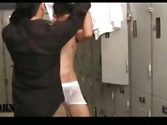 homosexual oriental lad in the locker room
