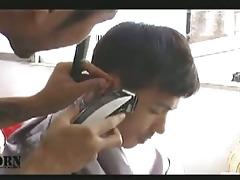 the nastiest oriental homo hairdresser