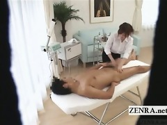 subtitled cfnm japanese massage with obvious