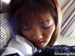hawt oriental schoolgirl engulfing wang