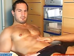 a straight rugbyman boy acquire wanked by a homo