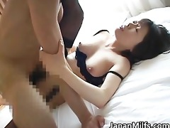 lascivious japanese milfs engulfing and fucking