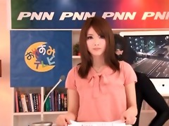sexually excited japanese news reading hotty