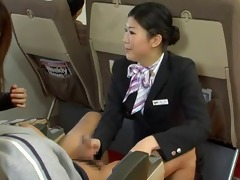 japanese stewardess tugjob - censored