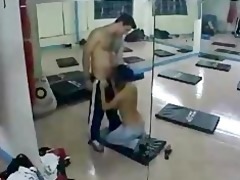 paki indian muslim gal gym romp with paki tutor