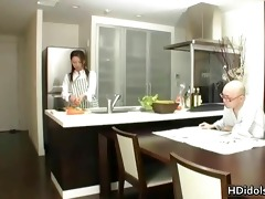 omoe hinatsu cooks up sex in the kitchen part7