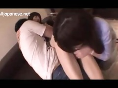 5 office ladies fingered engulfing boy weenie on
