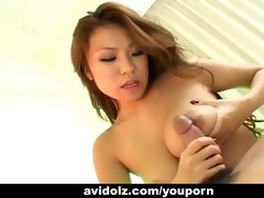 breasty japanese hottie give a flawless titjobs
