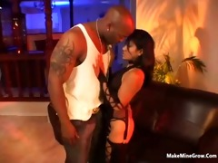 oriental playgirl try a massive black dong on her