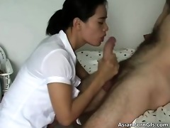 hawt asian hoe sucks large white hardon