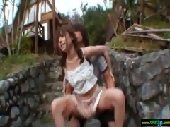 cute japanese angel love outdoor sex video-100