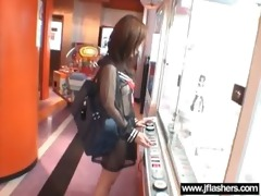 in public japanese flash body and get hard nailed