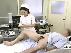 subtitled cfnm japanese prostate exam with tugjob