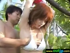 asians angels receive group-fucked in public