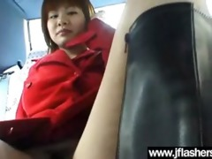 legal age teenager oriental flash her bazookas