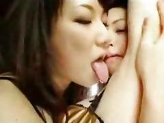 japanese lesbo armpit licking foreplay