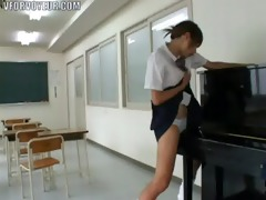 oriental schoolgirl humping a piano