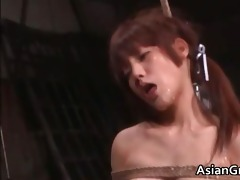 cute oriental playgirl in bondage sex acquires