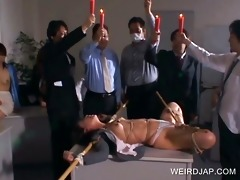 oriental serf receives body punished
