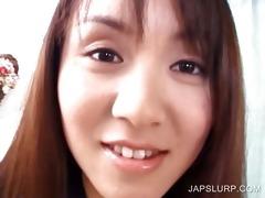 oriental schoolgirl shows bushy beaver
