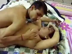 hawt breasty indian aunty enjoyed with her partner