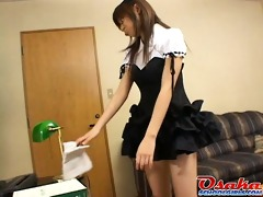 cute legal age teenager made to clean in a sexy