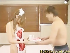 chihiro hara sweet oriental maid receives hard