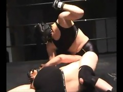 tall japanese - mixed wrestling beatdown