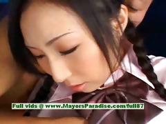 breathtaking japanese model gets teats licked and