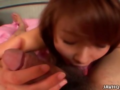 great close up in japanese teen oral-job pov