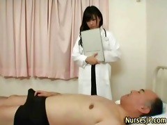 japanese playgirl nurse receives ribald