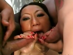 chaps brutally screwed japanese gal