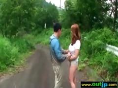 lewd wench japanese gal practice wild sex outdoor