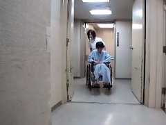 cute japanese nurse receives groped