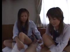 oriental schoolgirls sockjob